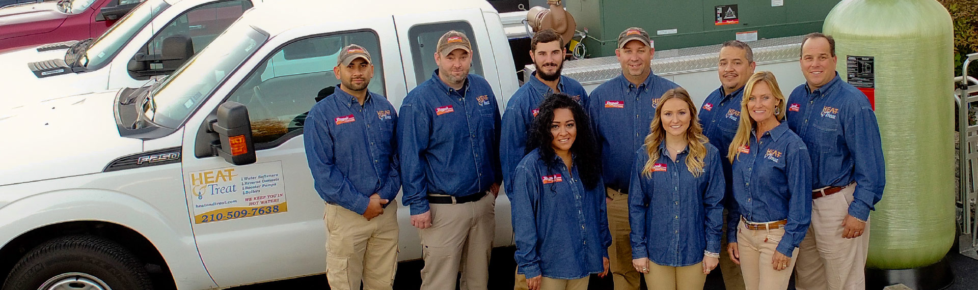 Raypak boilers| hydromatic pumps | commercial water softeners | Heat & Treat team | Heat & Treat Texas